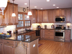 Racine Kitchen Remodel With Granite Countertops And New Cabinets