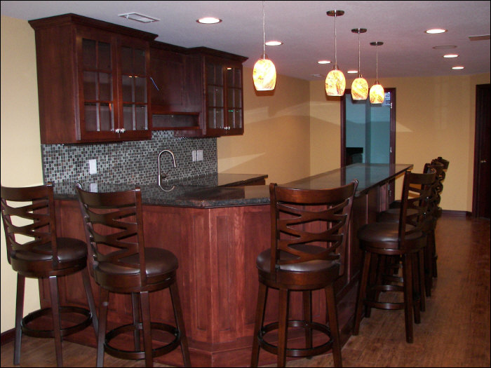 Luxury home bar remodel in Colgate, WI basement