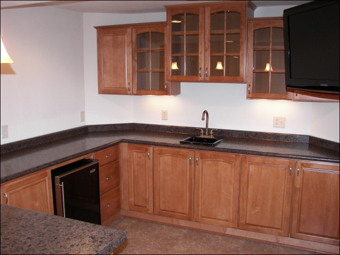 Basement kitchen remodel