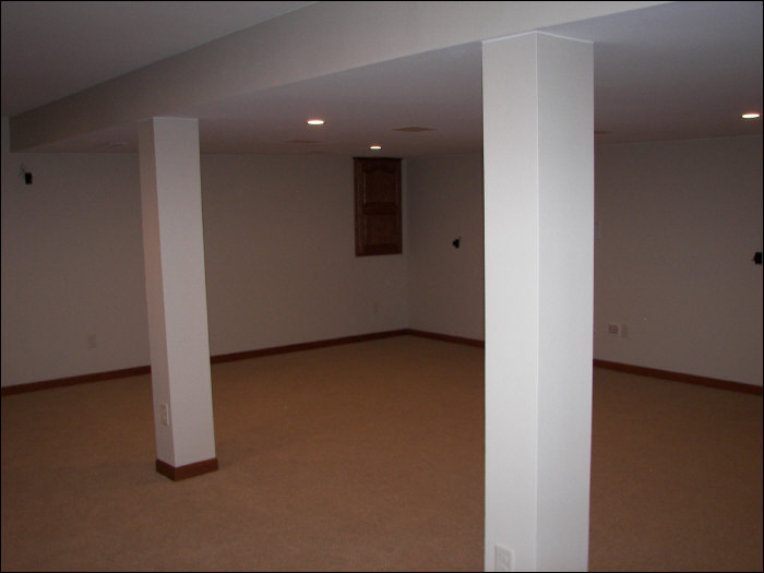 Basement living space basement remodel
