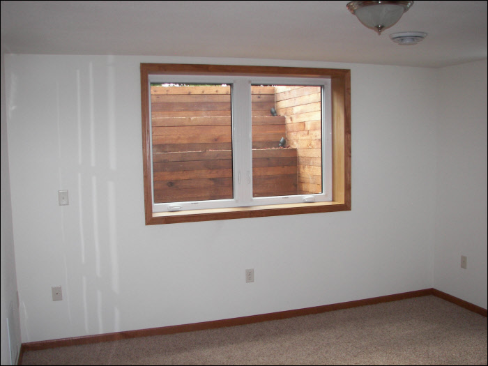 Egress window basement remodel