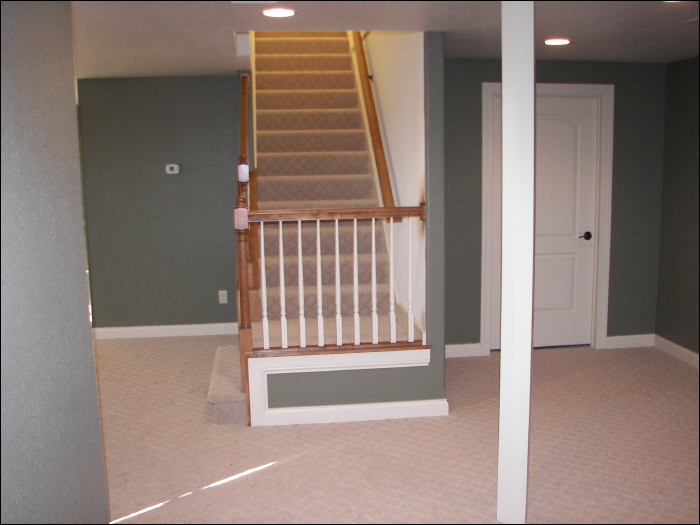 after staircase basement remodel