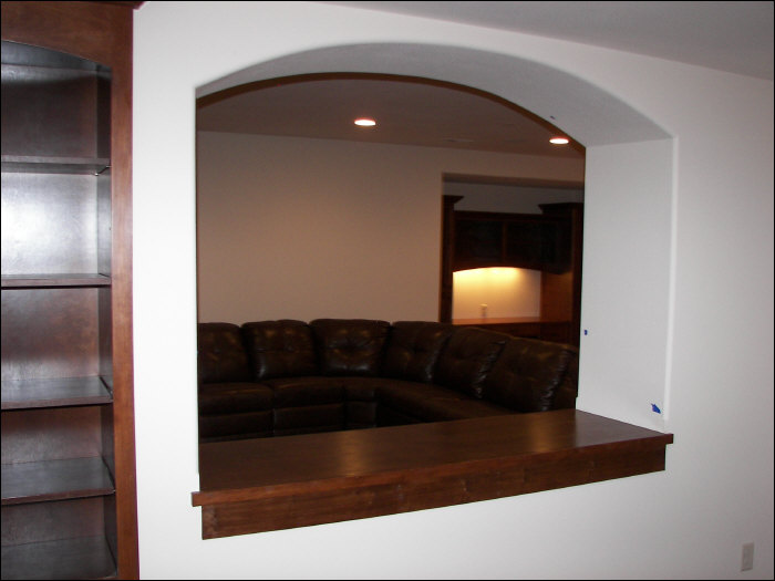 Custom construction in basement