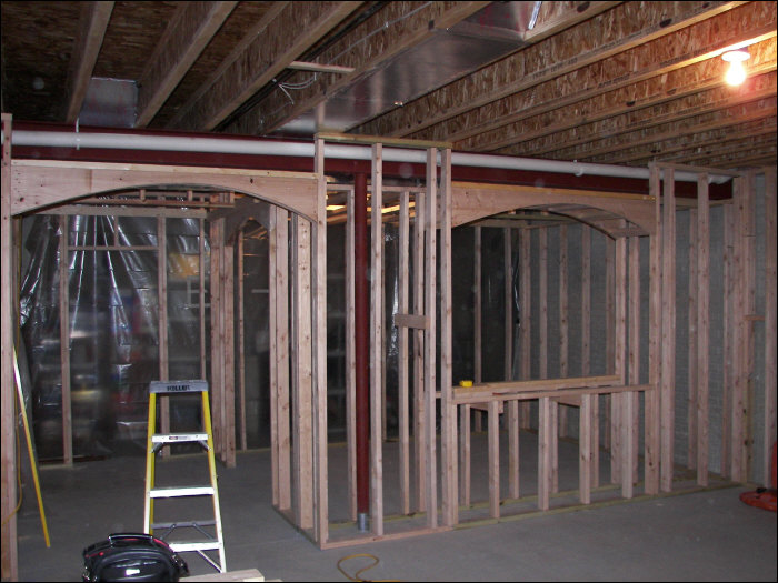 Before picture of basement construction