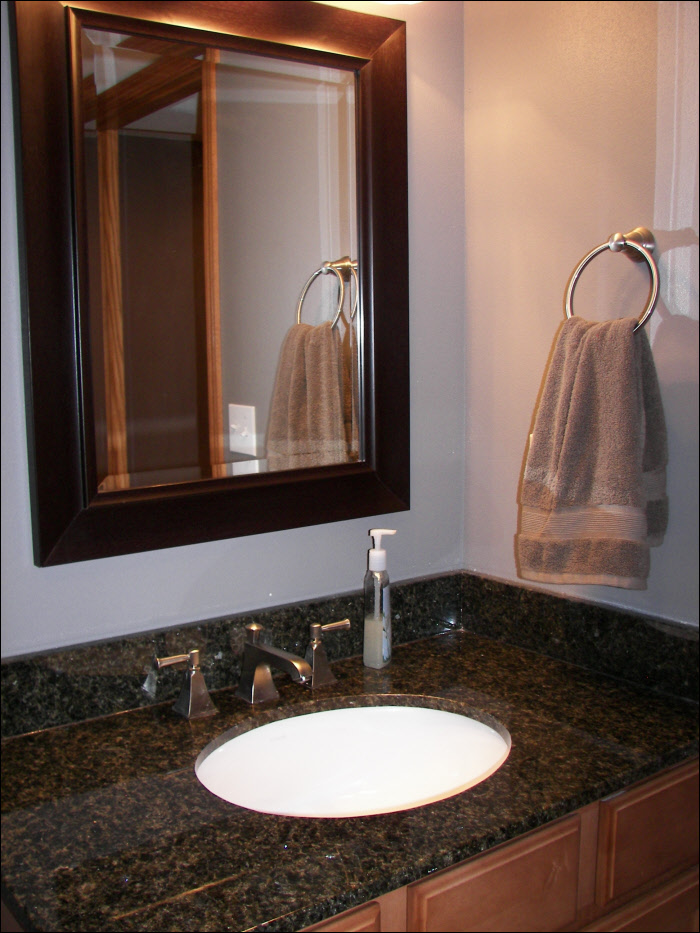 Port Washington bathroom remodel custom cabinetry