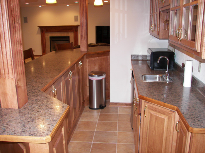 custom cabinetry basement remodeling