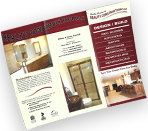 Reality Construction LLC Brochure West Bend WI